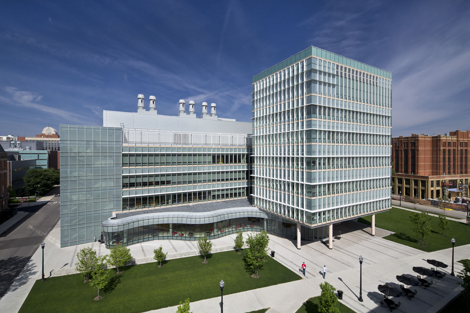 OSU CBEC Koffolt Laboratories by Pelli Clarke Pelli photographed by Brad Feinknopf based in Columbus, Ohio
