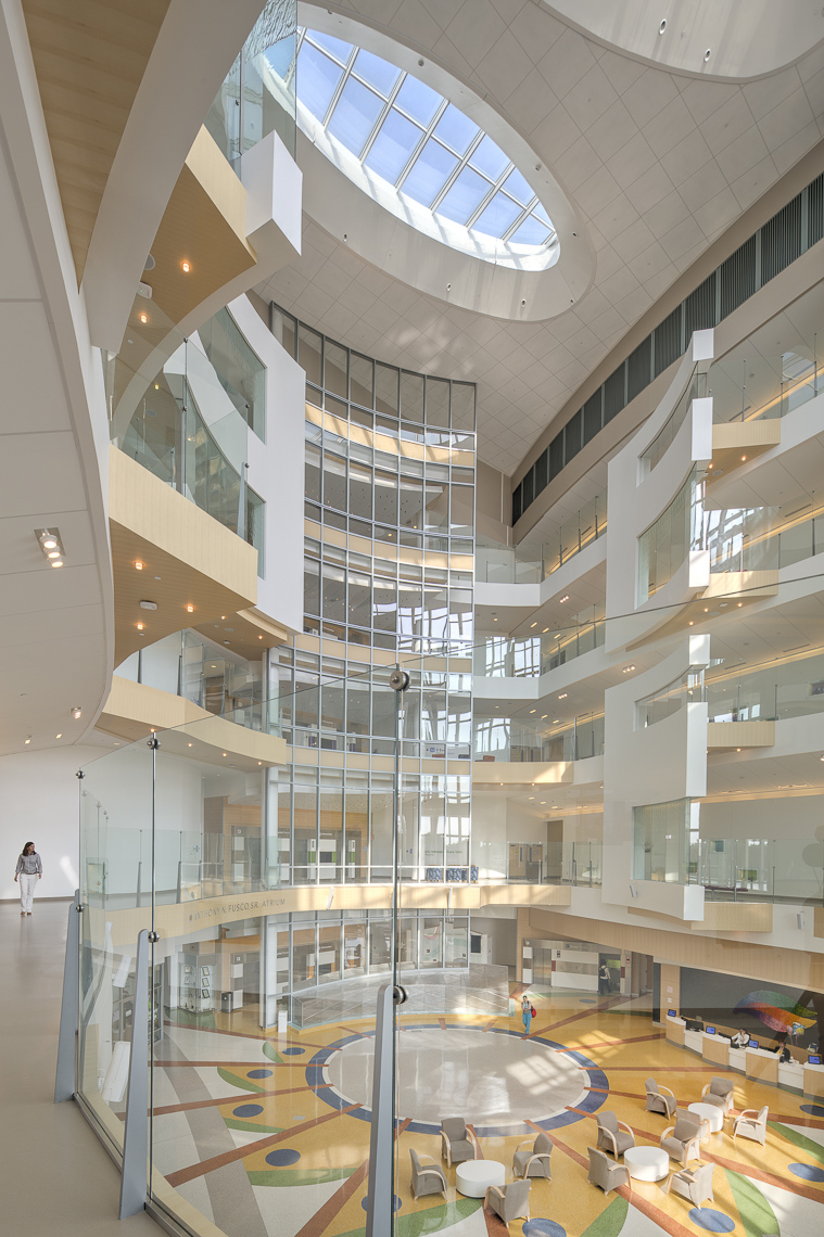 Nemours Alfred I DuPont Hospital for Children by FKP Architects photographed by Brad Feinknopf based in Columbus, Ohio