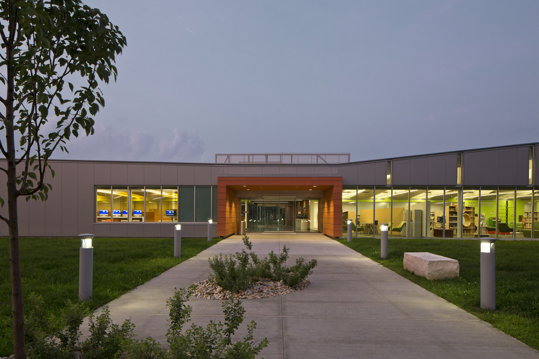 Columbus Metropolitan Library Whitehall Branch by Jonathan Barnes Architecture + Design Photographed by Brad Feinknopf based in Columbus, Ohio