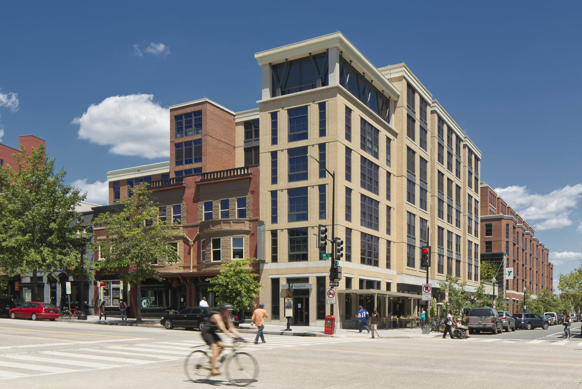 14th & W Street NW / YMCA Anthony Bowen by HOK Photographed by Brad Feinknopf based in Columbus, Ohio