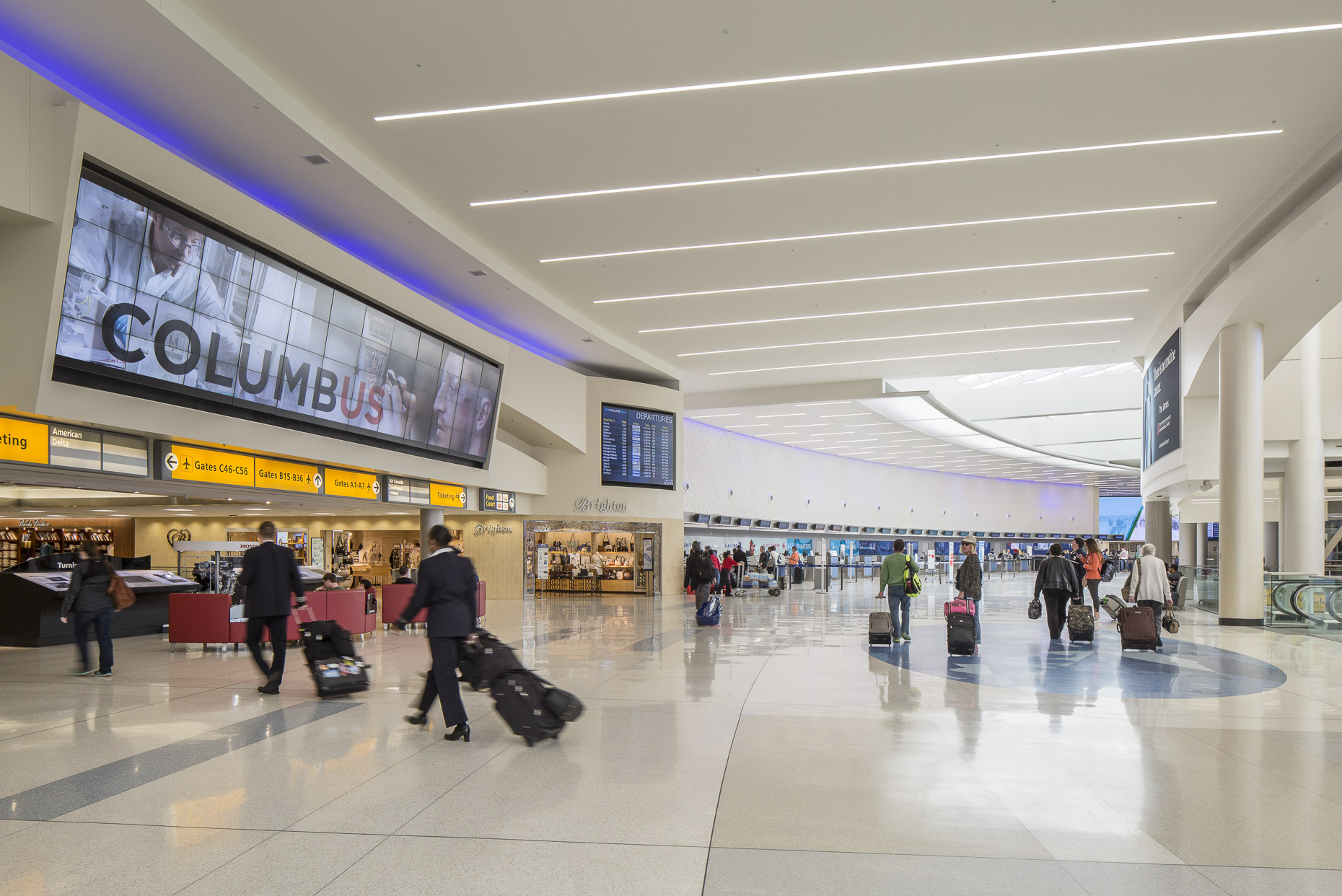 John Glenn International Airport Revitalization by AECOM & Turner Construction photographed by BRad Feinknopf based in Columbus, Ohio
