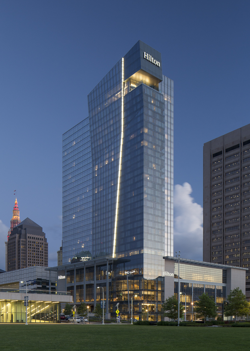 Hilton Cleveland Downtown Hotel by Cooper Carry photographed by Brad Feinknopf based in Columbus, Ohio