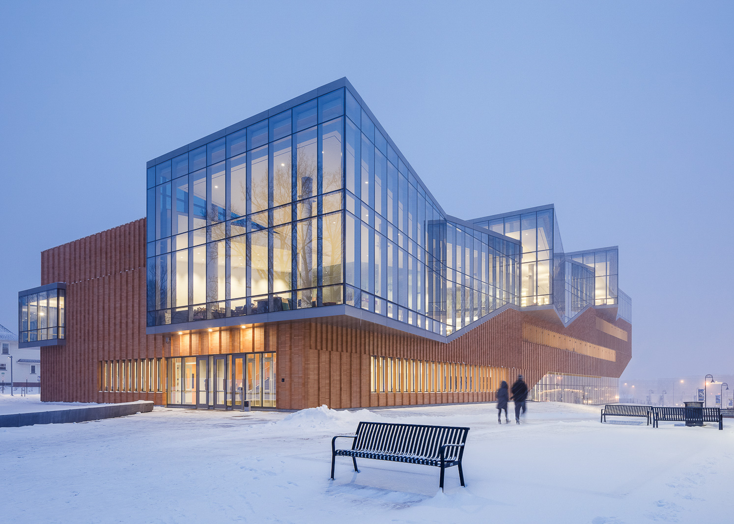 Kent State School of Architecture by Weiss/Manfredi photographed by Brad Feinknopf based in Columbus, Ohio