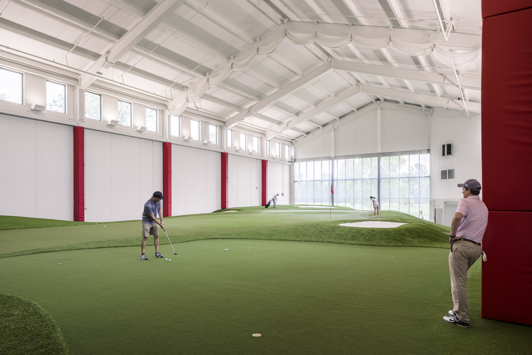 OSU Jane and Walt Dennis Golf Performance Center by GBBN photographed by Brad Feinknopf based in Columbus, Ohio