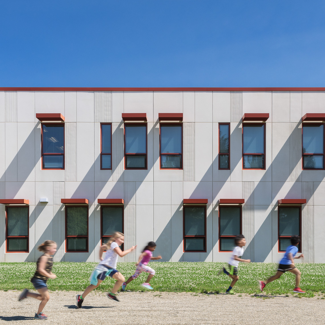Columbus Spanish Immersion Academy by Design Group photographed by Brad Feinknopf based in Columbus, Ohio