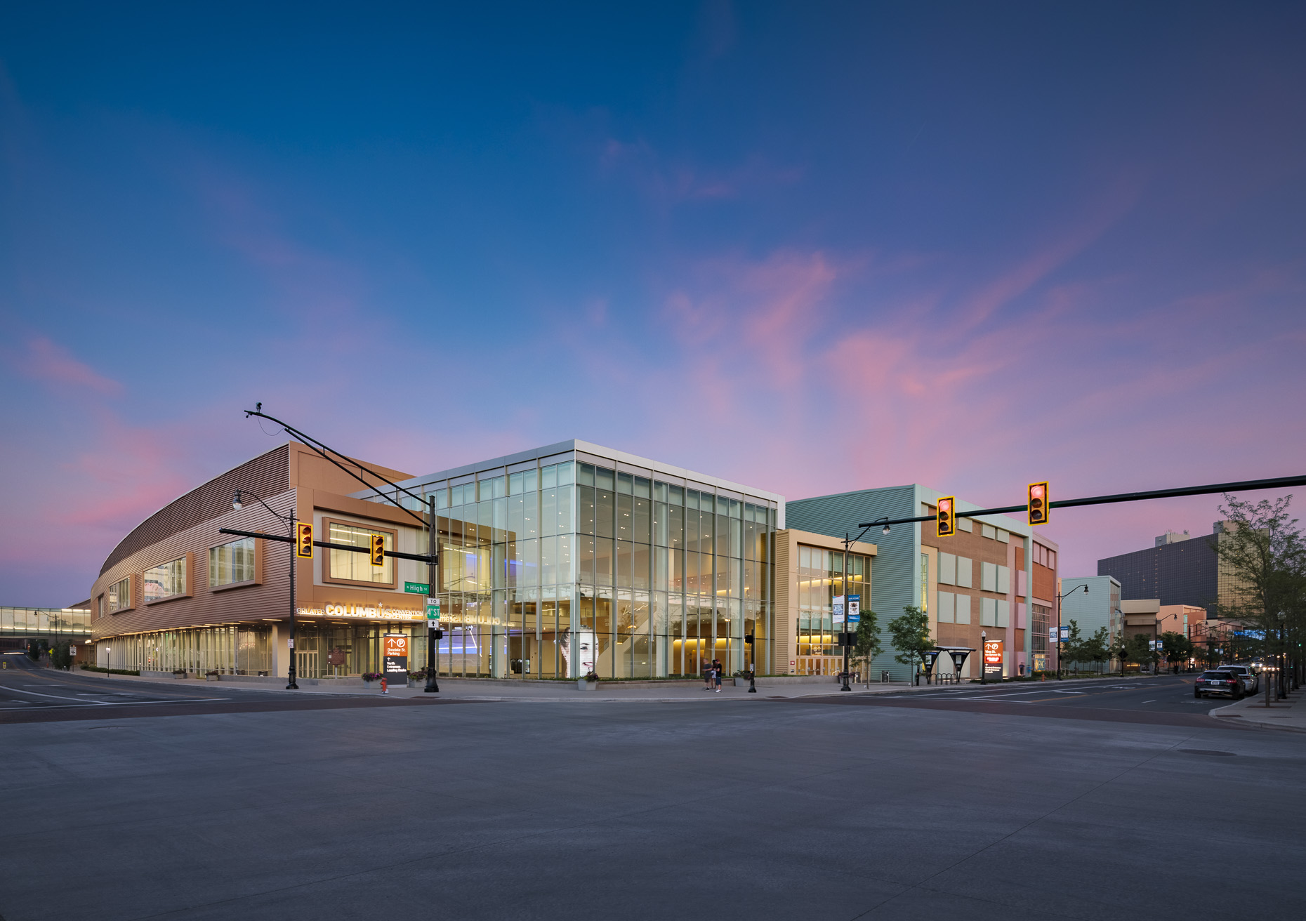 Greater Columbus Convention Center Renovation & Addition by photographed by Brad Feinknopf based in Columbus, Ohio