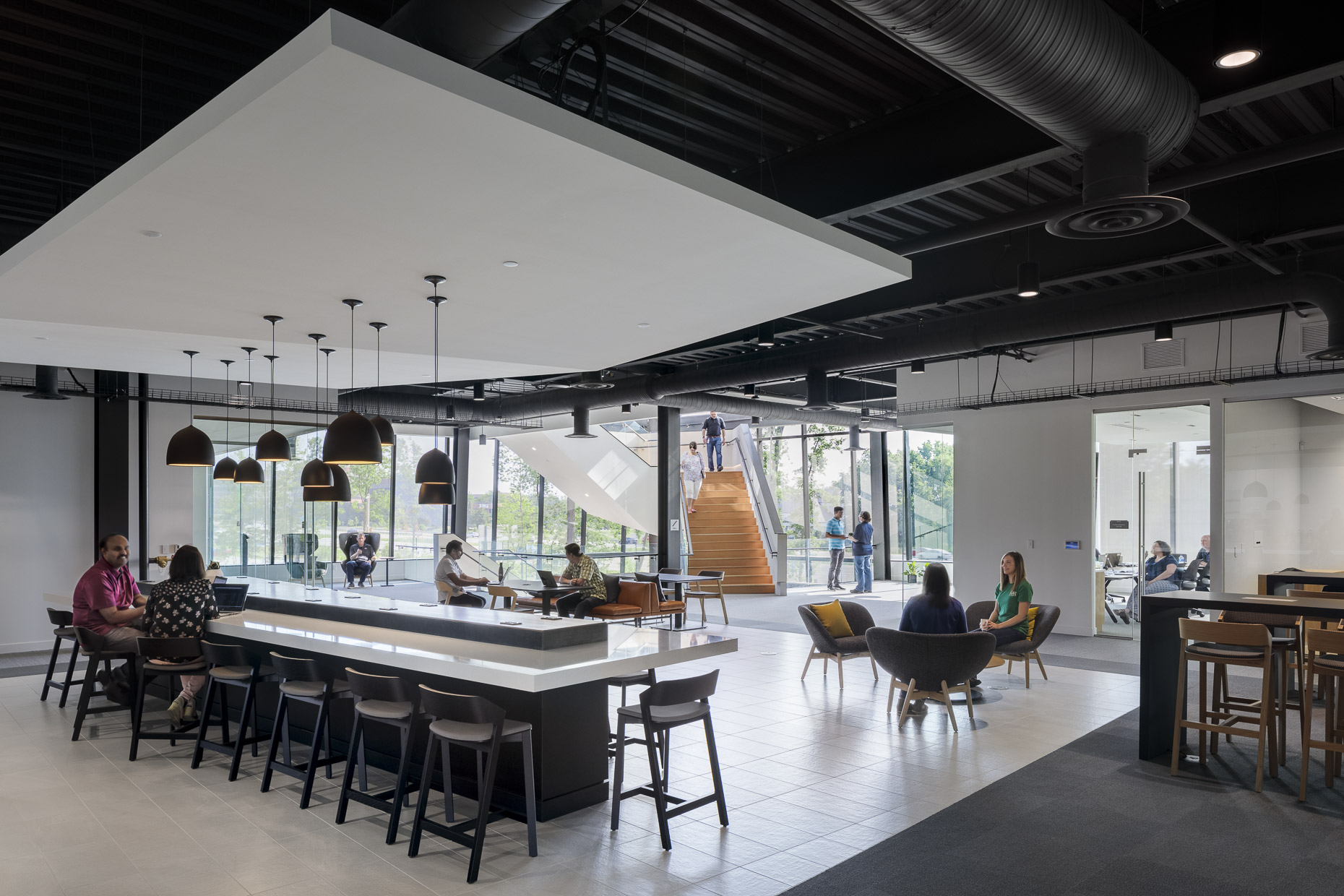KAR Global Headquarters by Ratio Architects photographed by Brad Feinknopf based in Columbus, Ohio