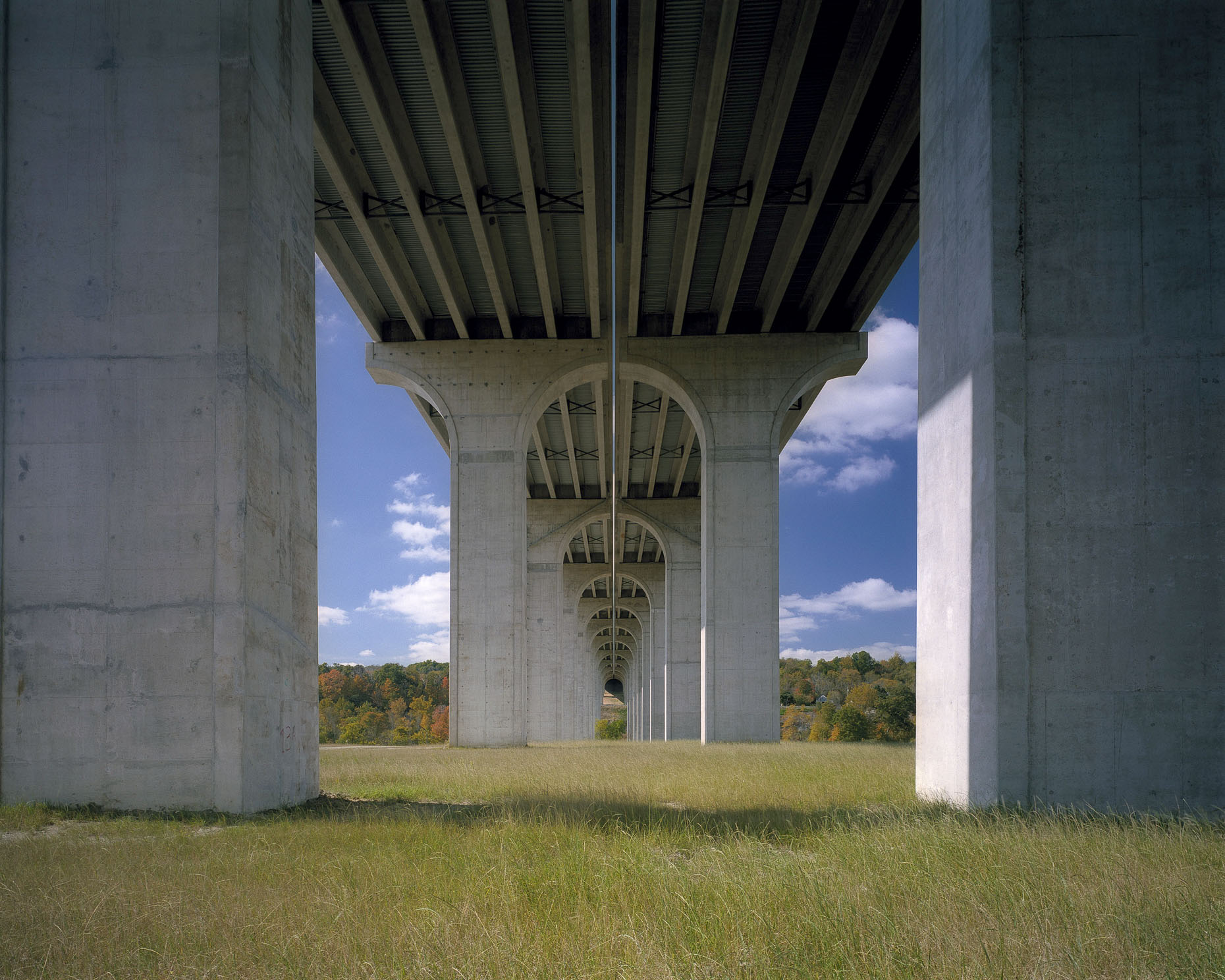 US I-80 Ohio Turnpike Bridge by HNTB photographed by Brad Feinknopf based in Columbus, Ohio