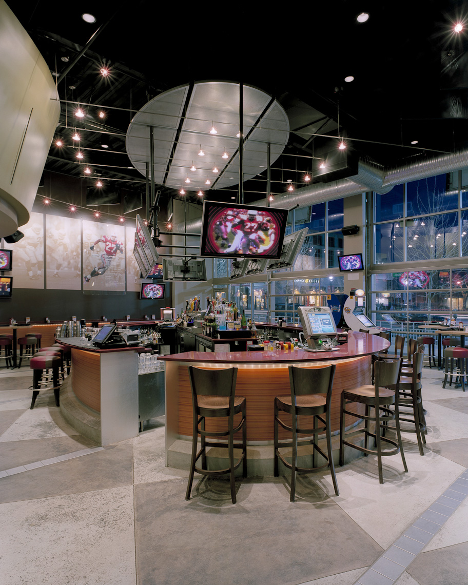 Eddie George's Grill at the South Campus Gateway by Lupton Rausch Architecture & Interior Design