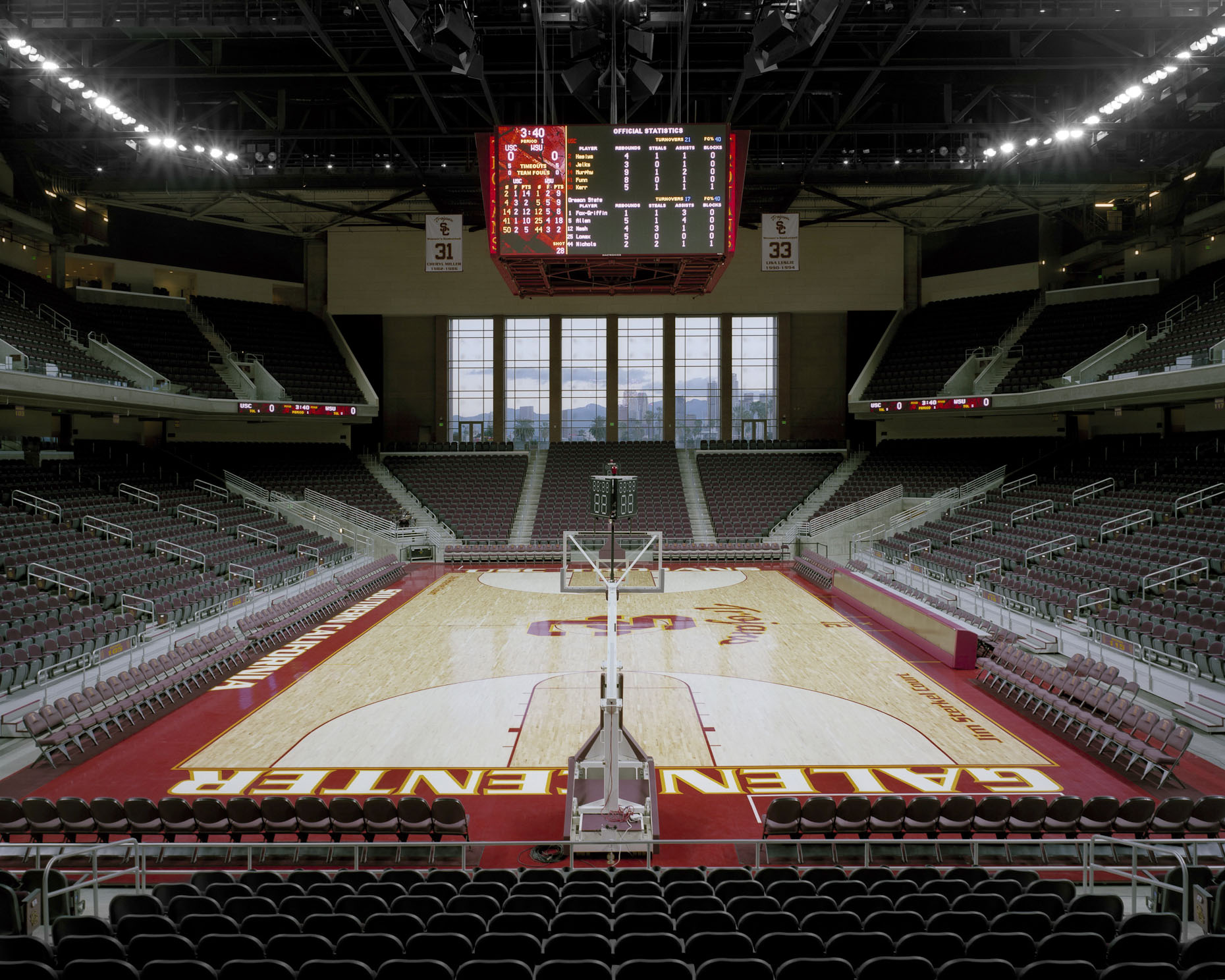 USC Galen Center by HNTB photographed by BRad Feinknopf based in Columbus, Ohio