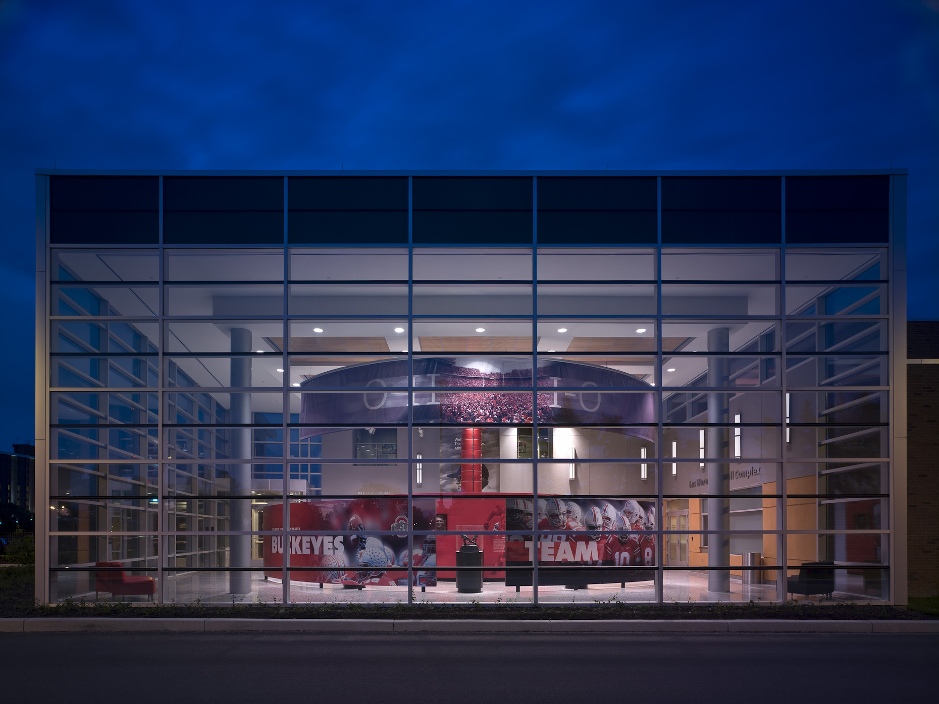 OSU Woody Hayes Athletic Center by Heery photographed by Brad Feinknopf based in Columbus, Ohio