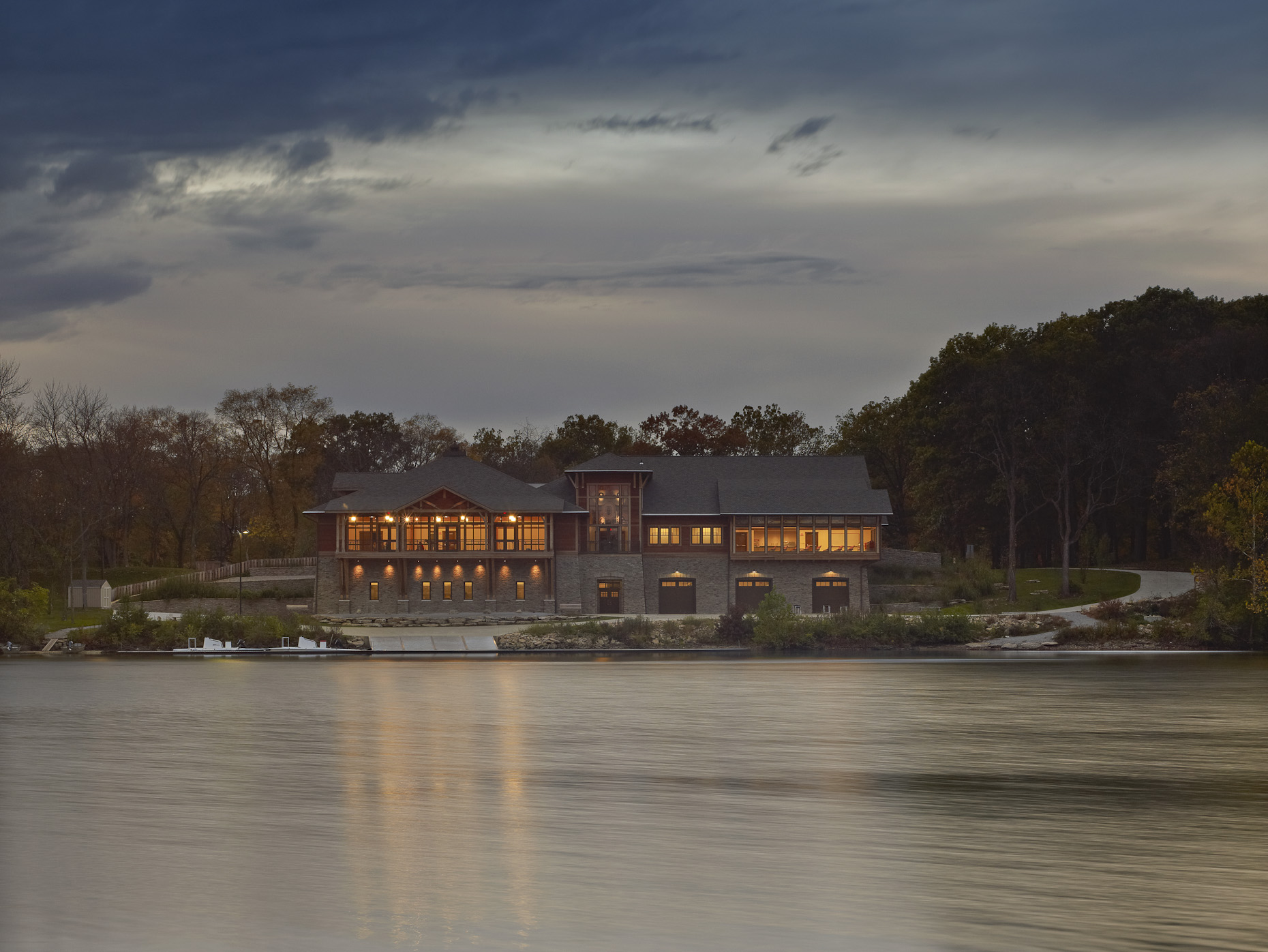 Griggs Reservoir Boathouse by Schooley Caldwell Associates