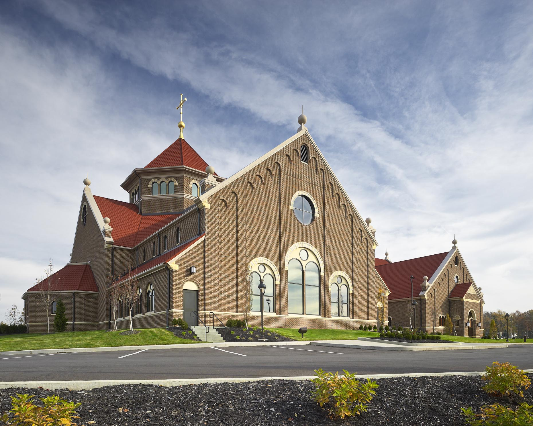St. Paul the Apostle Parish Catholic Church by Meleca & Corna-Kokosing Photographed by Brad Feinknopf based in Columbus, Ohio