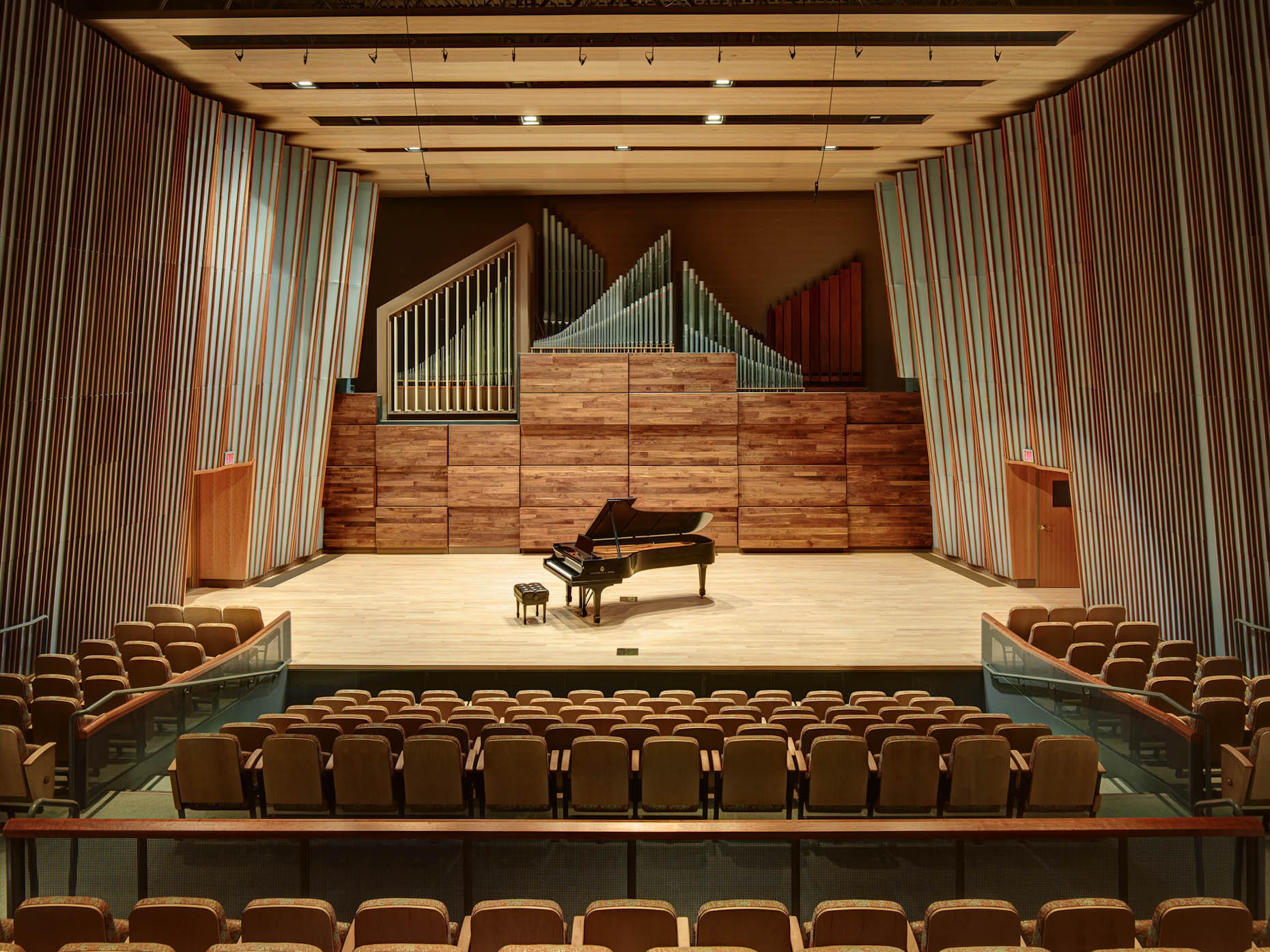 Wright State University Schuster Concert Hall by H3 photographed by Brad Feinknopf based in Columbus