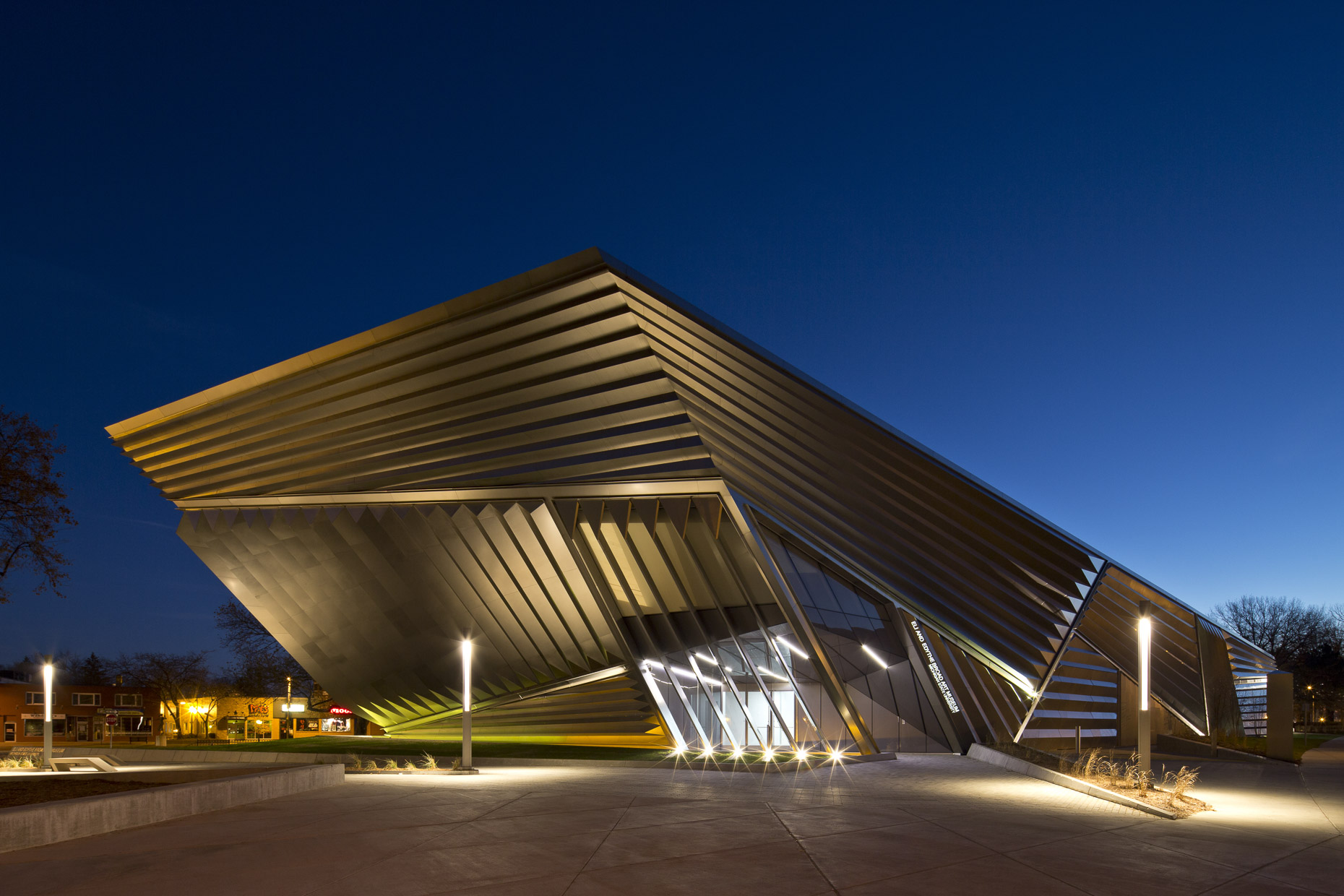 Eli & Edythe Broad Art Museum at Michigan State University by Zaha Hadid Architects Photographed by Brad Feinknopf based in Columbus, Ohio