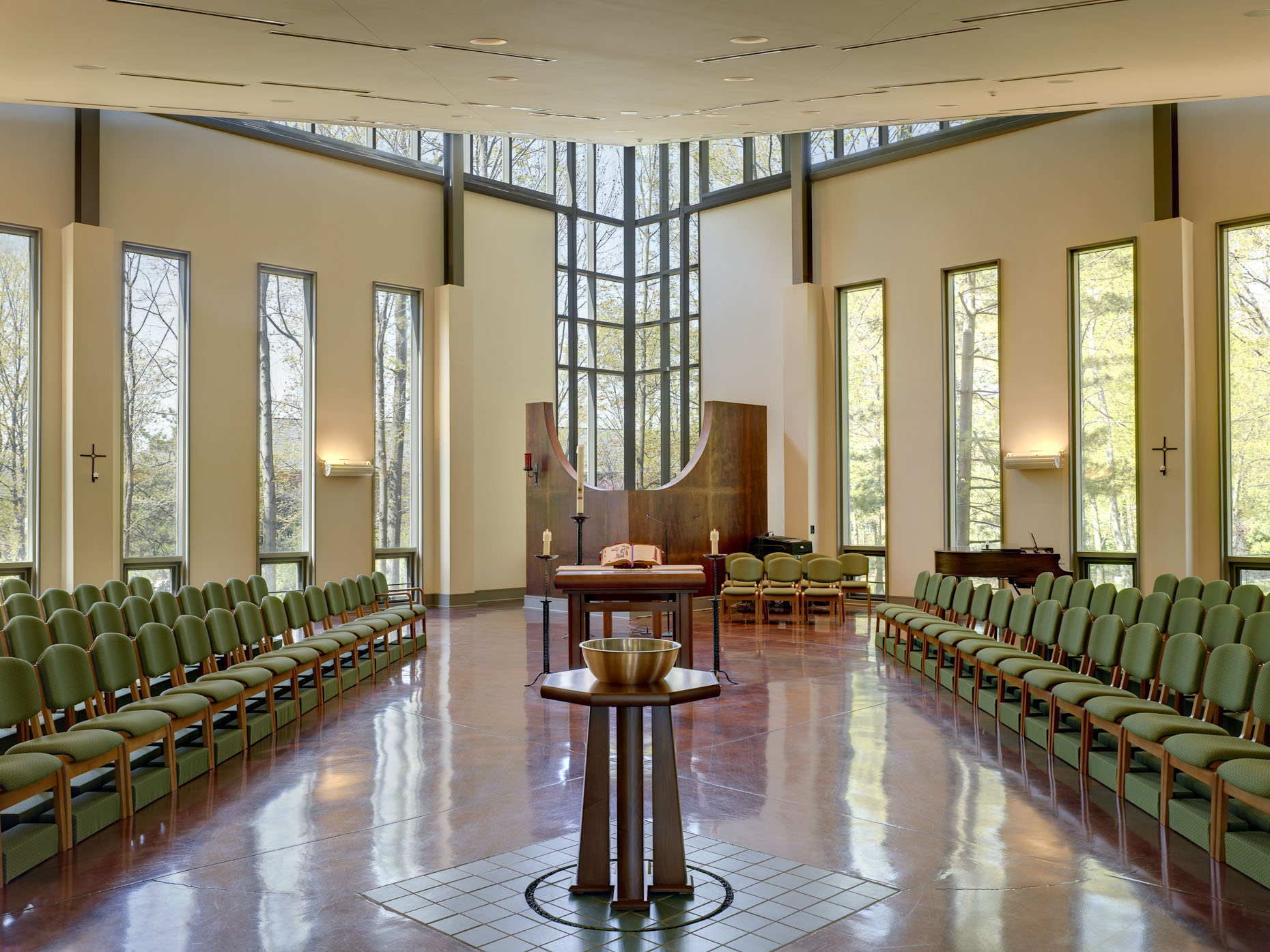 Wright State University St. John Bosco Chapel by The Collective photographed by Brad Feinknopf based in Columbus, Ohio