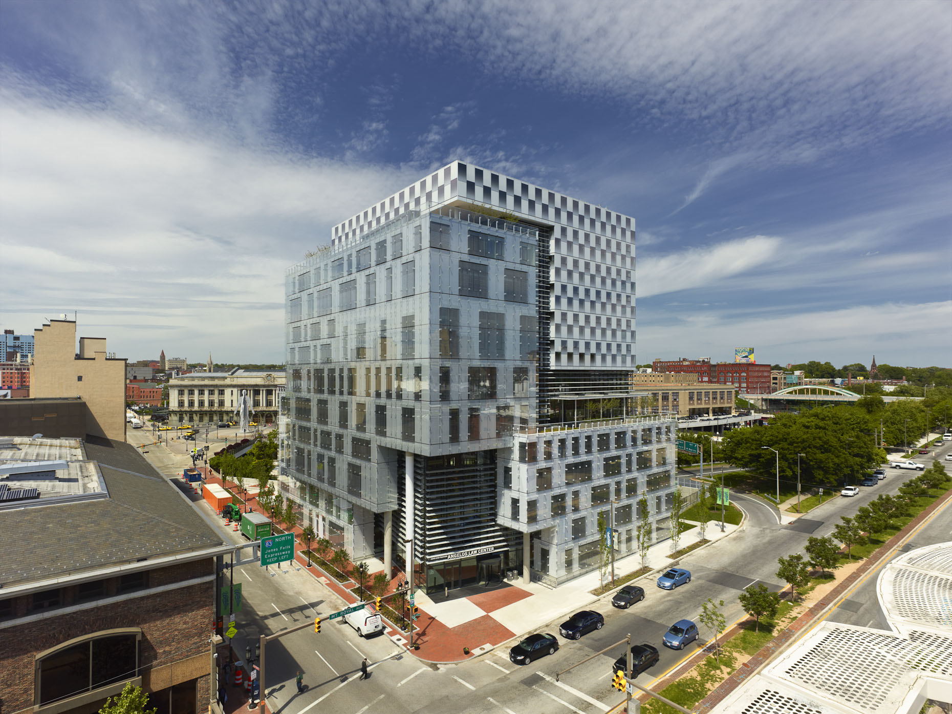 John & Frances Angelos Law Center at the University of Baltimore by Behnisch Architekten & Ayers Saint Gross
