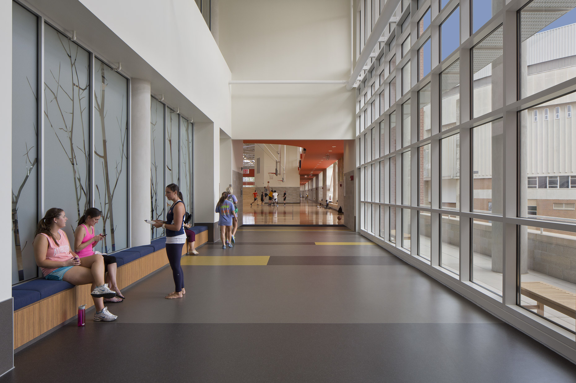 AU Recreation & Wellness Center by HOK photographed by Brad Feinknopf based in Columbus, Ohio