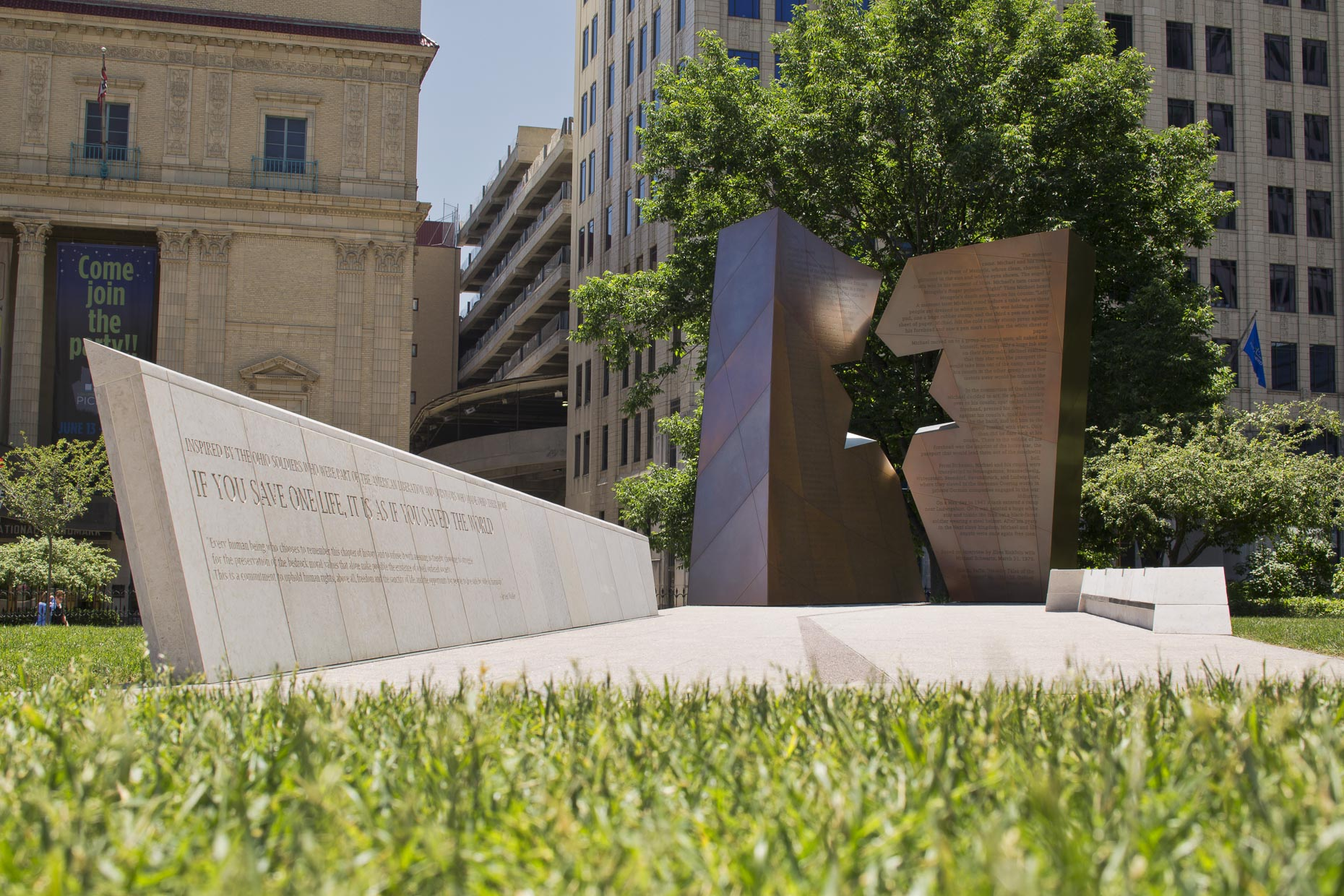 Ohio Holocaust Memorial by Studio Daniel Libeskind Photographed by Brad Feinknopf based in Columbus, Ohio