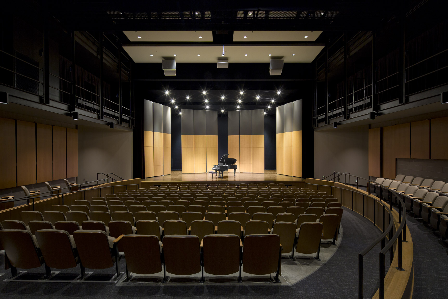Columbus School for Girls Performing Arts Center by DesignGroup photographed by Brad Feinknopf based in Columbus, Ohio