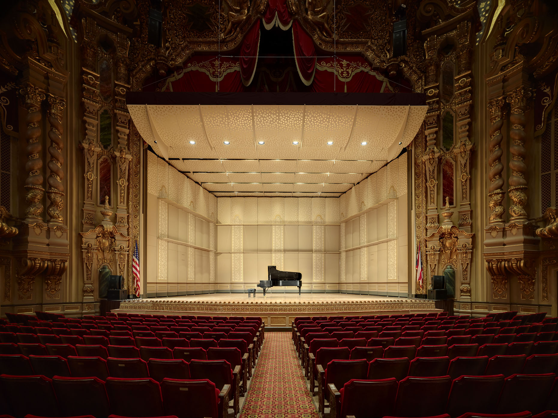Ohio Theater Orchestral Band Shell by Rogers Krajnak Architects photographed by Brad Feinknopf based in Columbus, Ohio