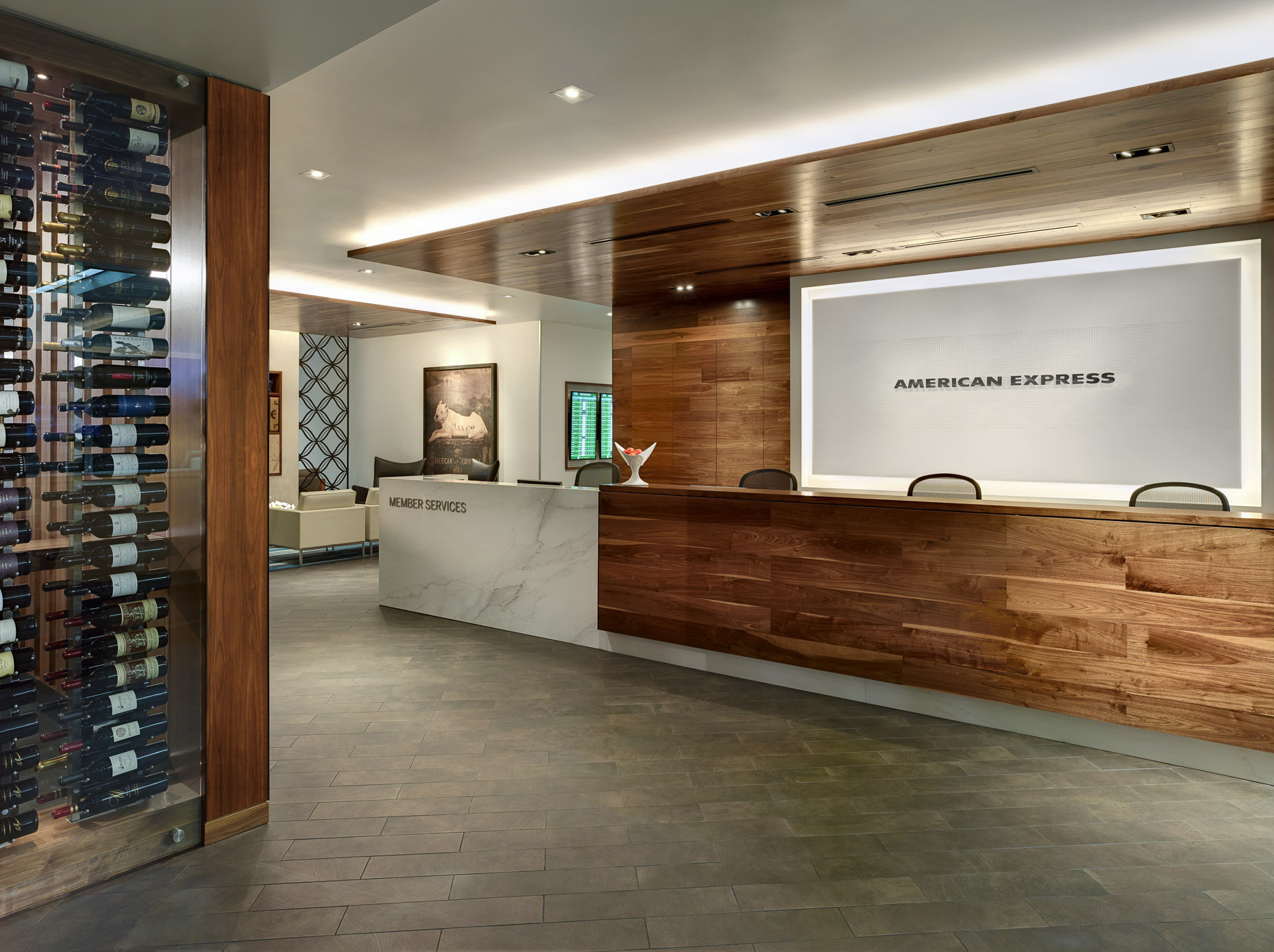 The Centurion Lounge SFO by American Express Photographed by Brad Feinknopf based in Columbus, Ohio