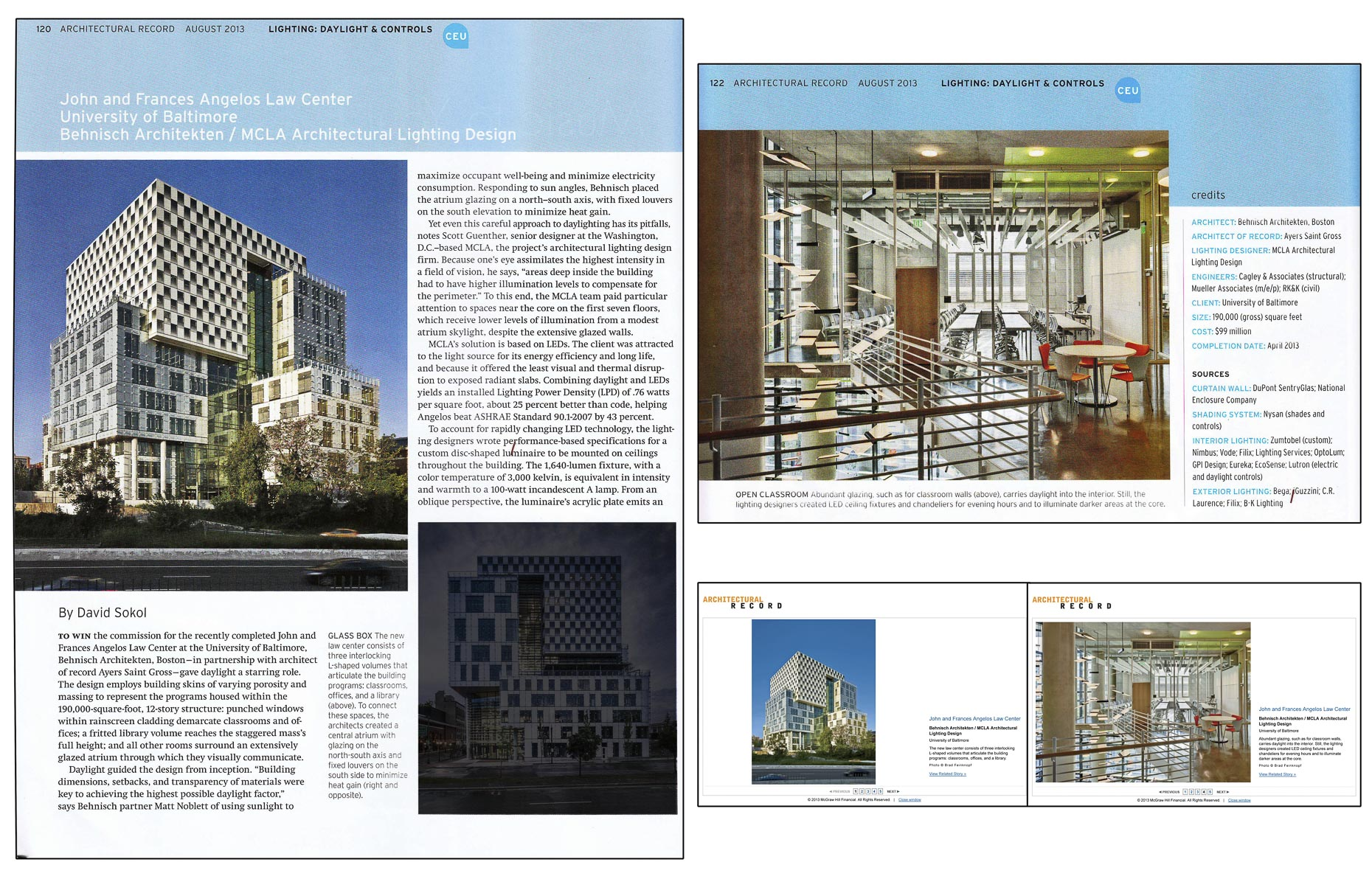 Architectural Record August 2013 Issue John u0026 Frances Angelos Law Center at the University of Baltimore  sc 1 st  Brad Feinknopf & Architectural Record August 2013 Issue John u0026 Frances Angelos Law ...