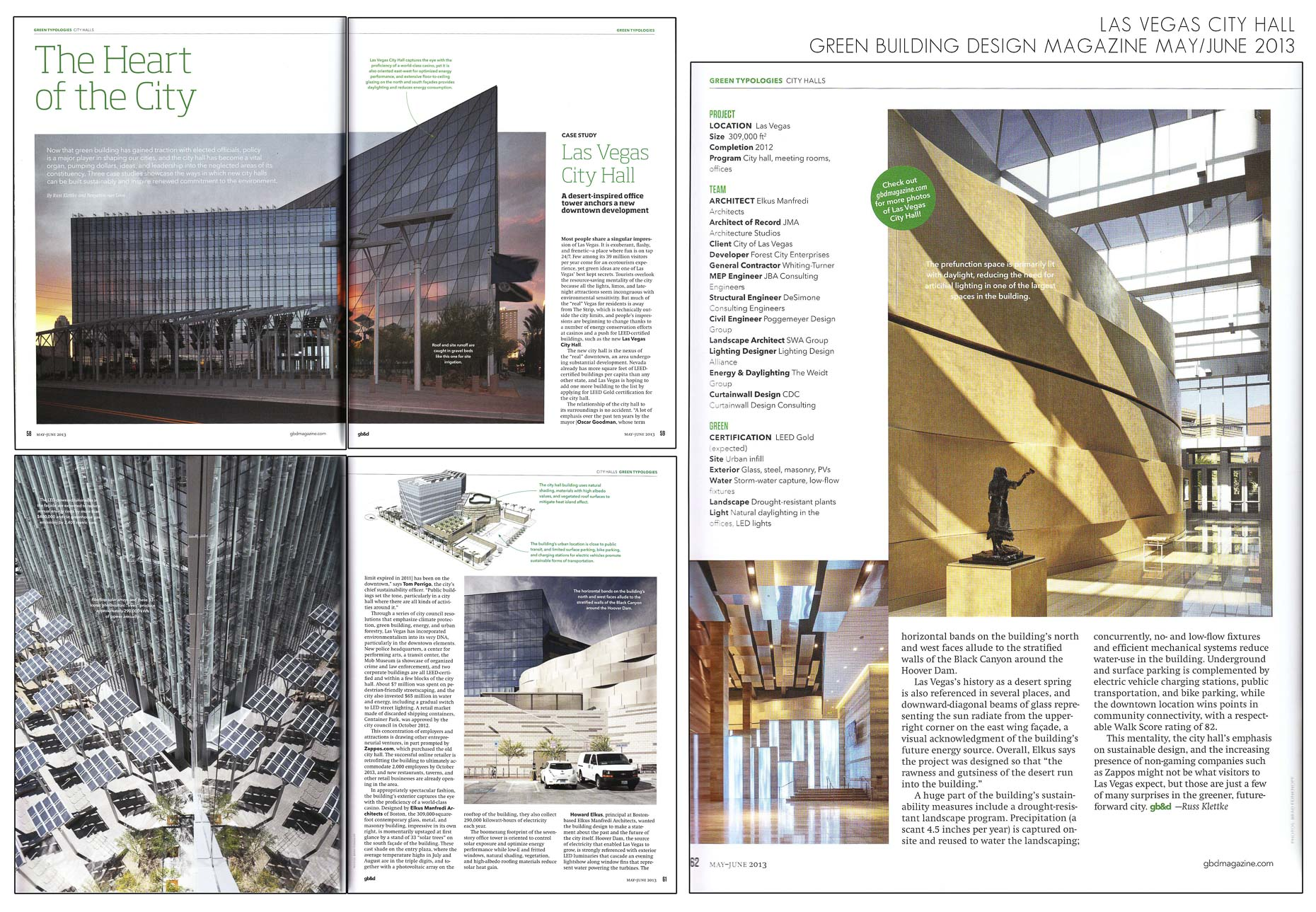 Building Design + Construction August 2013 Issue Las Vegas City Hall