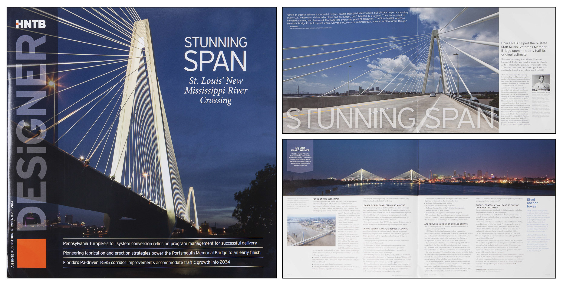 HNTB Stunning Span Stan Musial Veterans' Memorial Bridge