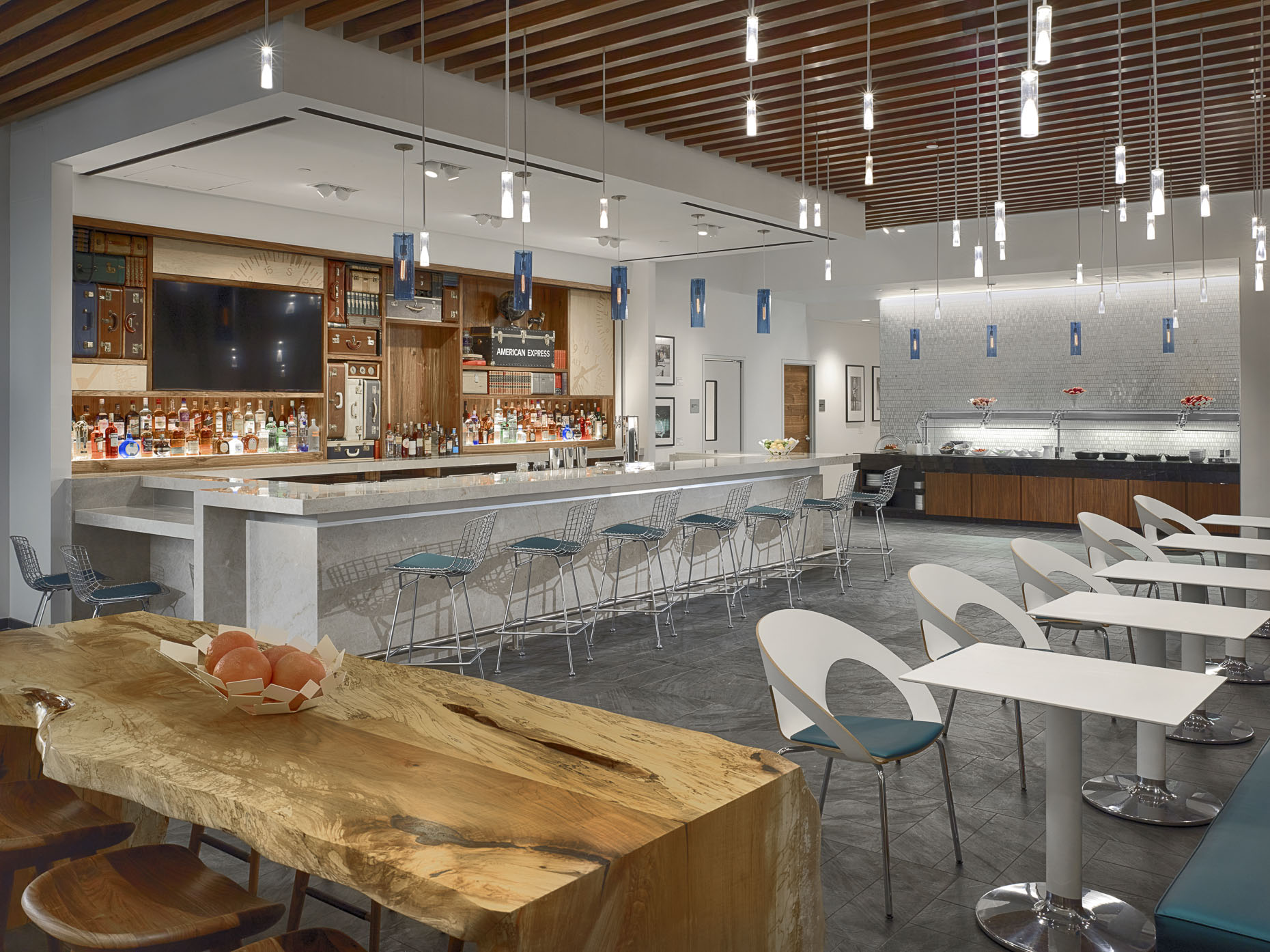George Bush Intercontinental Airport AMEX Centurion Lounge for American Express photographed by Brad Feinknopf based in Columbus, Ohio