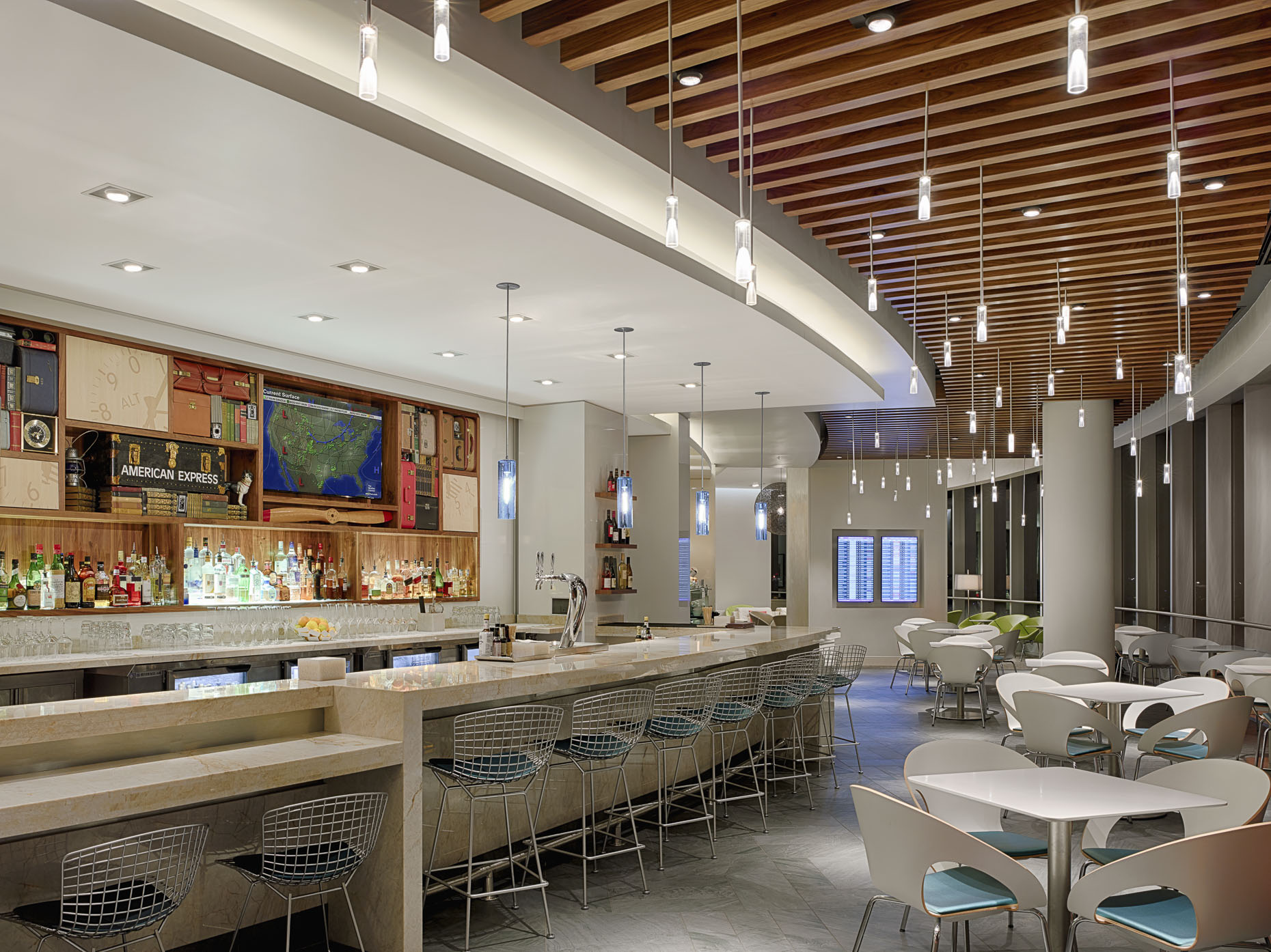 Miami International Airport AMEX Centurion Lounge for American Express photographed by Brad Feinknopf based in Columbus, Ohio