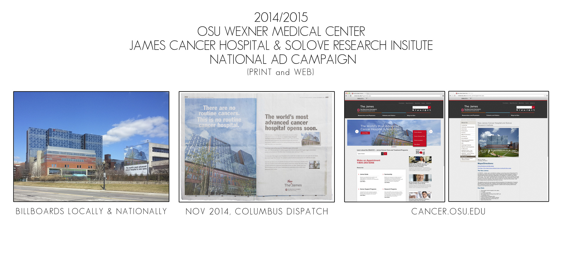 OSU Wexner Medical Center James Cancer Hospital & Solove Research Center Ad Campaign