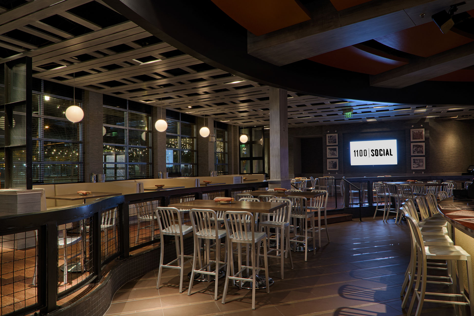 1100 Social at XFinityLive! Philadelphia by FRCH Design Worldwide photographed by Lauren K Davis based in Columbus, Ohio