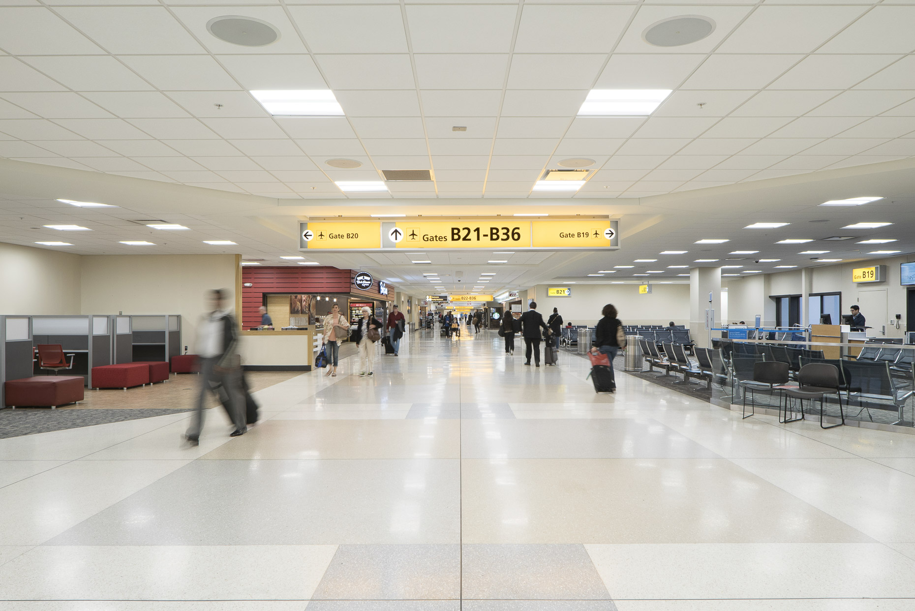 John Glenn International Airport Concourses B & C by Gilbane photographed by Lauren K Davis based in Columbus, Ohio