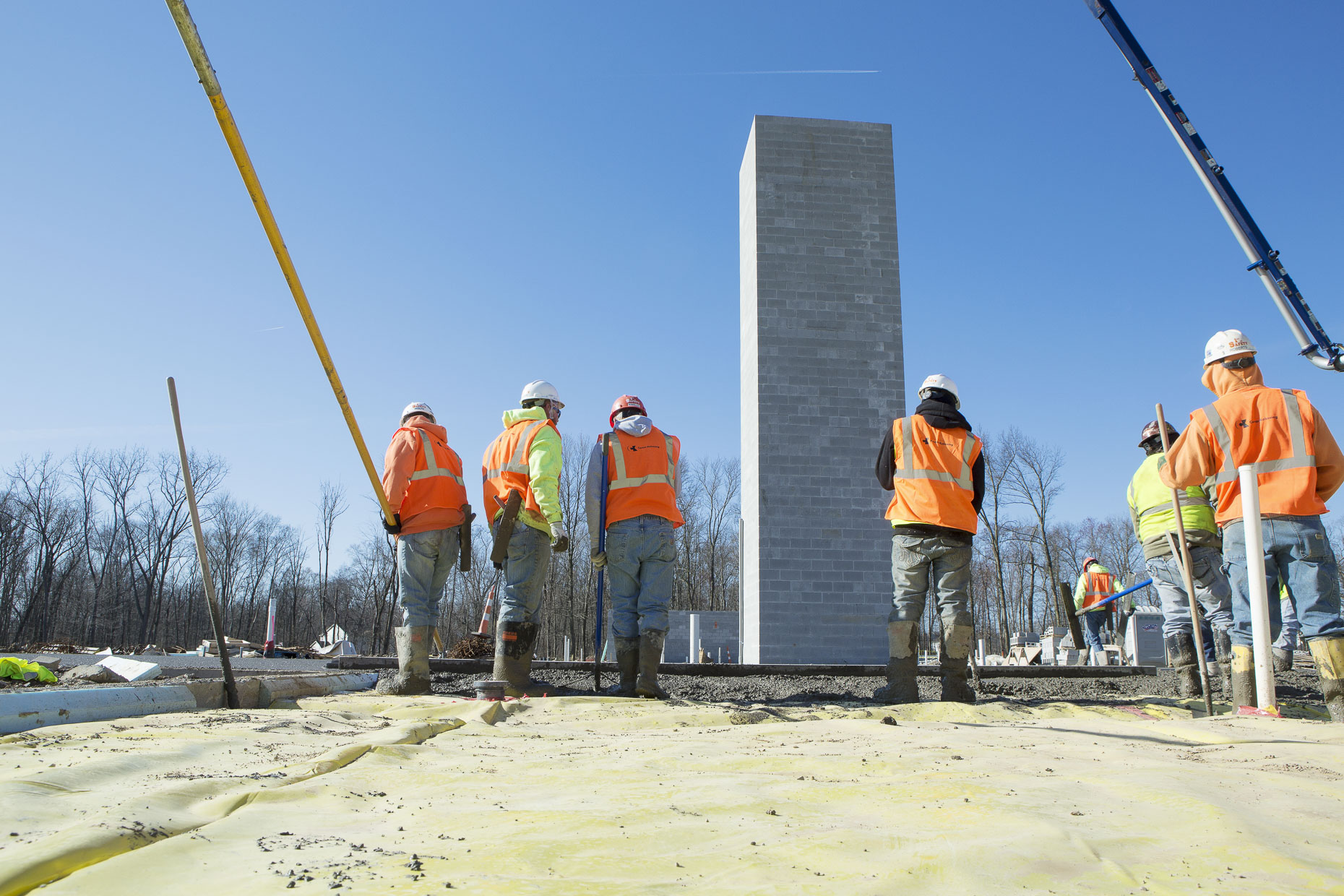 Pouring Concrete at Wesley Woods for Corna-Kokosing photographed by Lauren K Davis based in Columbus, Ohio