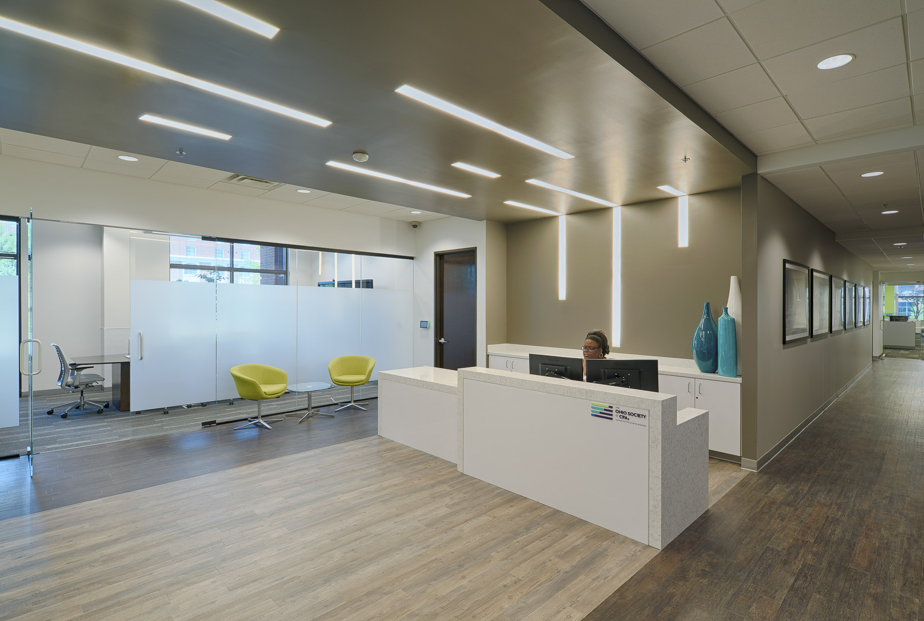 Ohio Society of CPA Corporate Office & Training Center by DesignGroup photographed by Lauren K Davis based in Columbus, Ohio