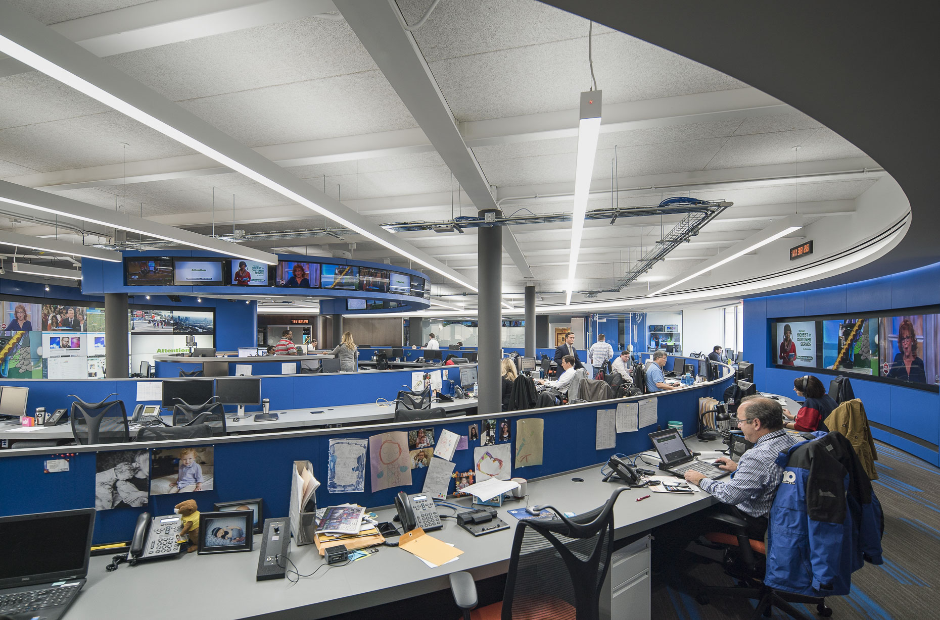 Channel 10 Newsroom by Turner Construction photographed by Lauren K Davis based in Columbus, Ohio