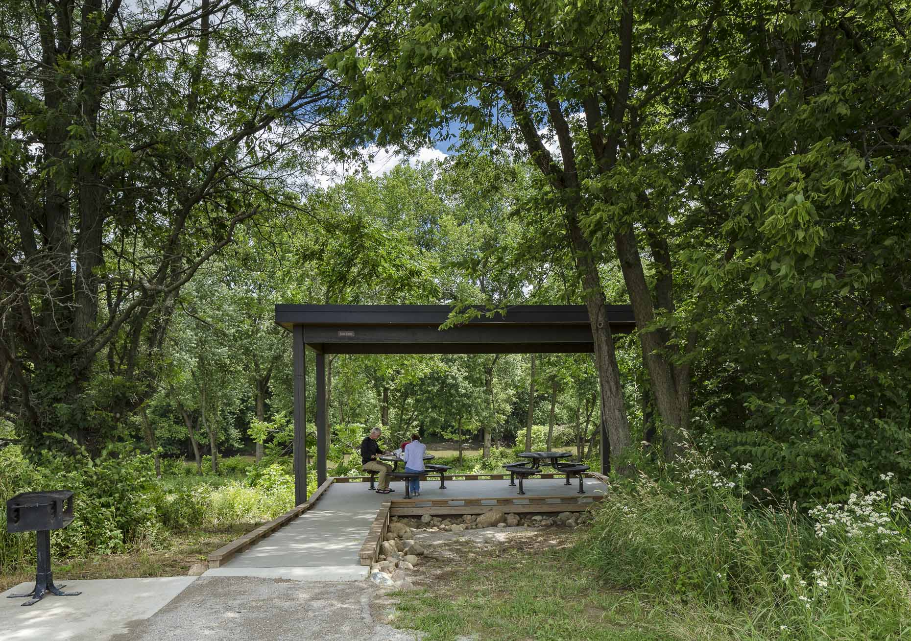 Scioto Grove Metro Park Shelter Houses by WSA Studio photographed by Lauren K Davis based in Columbus, Ohio