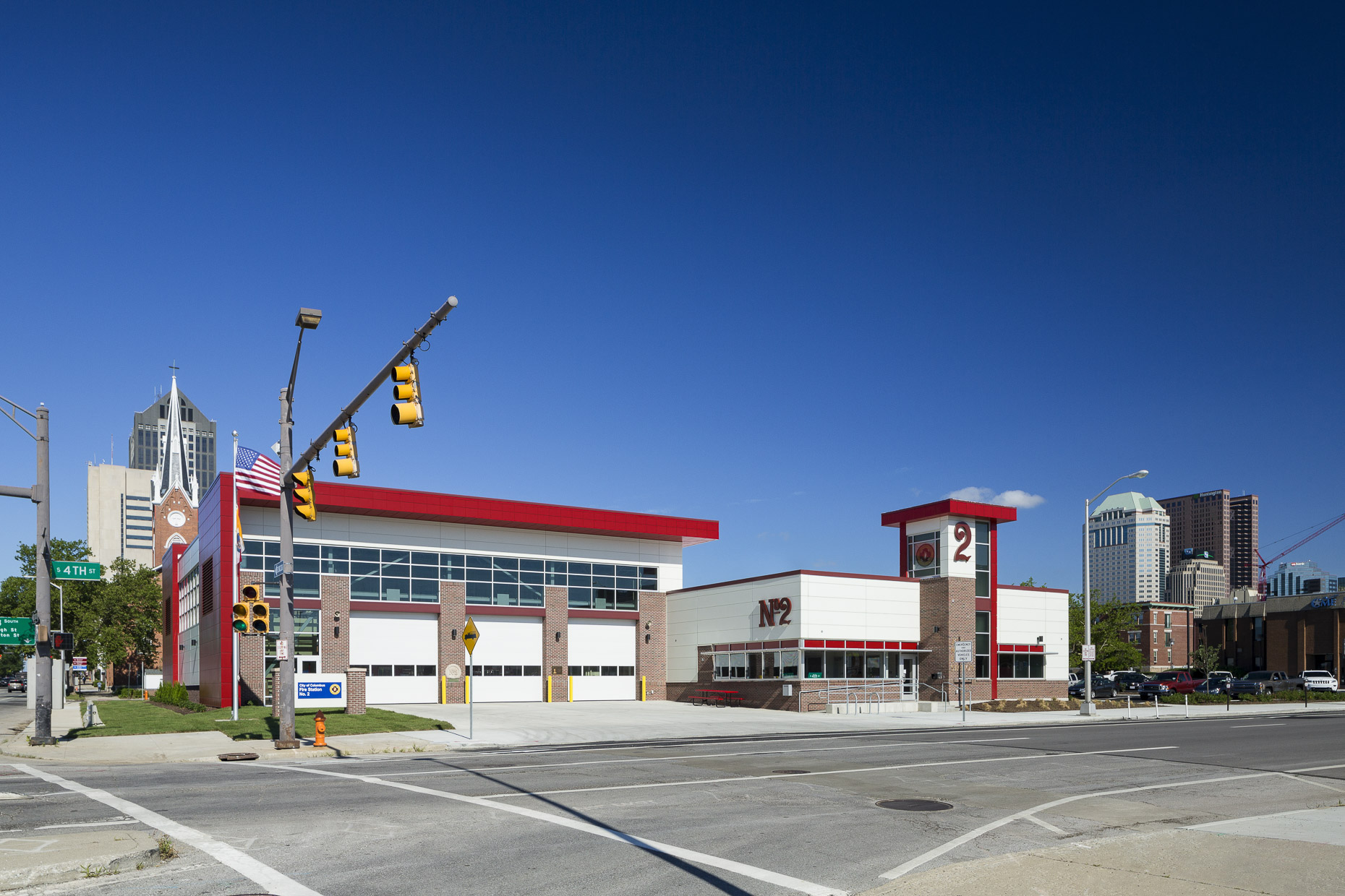 Columbus Fire Department Fire Station No.2 by DLZ & Robertson Construction photographed by Lauren K Davis based in Columbus, Ohio