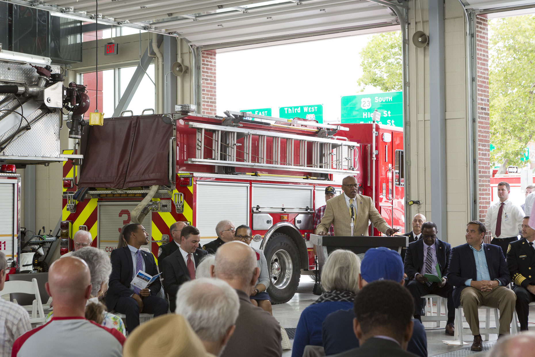 City of Columbus Fire Station No 2 Ribbon Cutting Ceremony Event photographed by Lauren K Davis