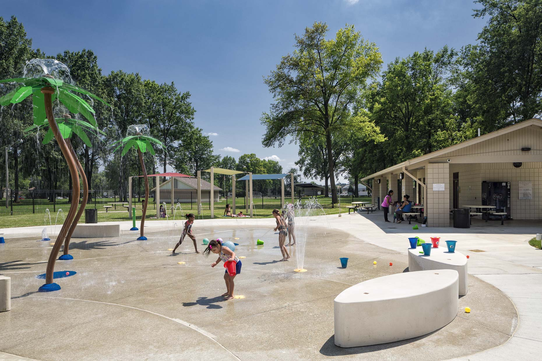 John Bishop Park Splash Pad by MSA Architects photographed by Lauren K Davis based in Columbus, Ohio