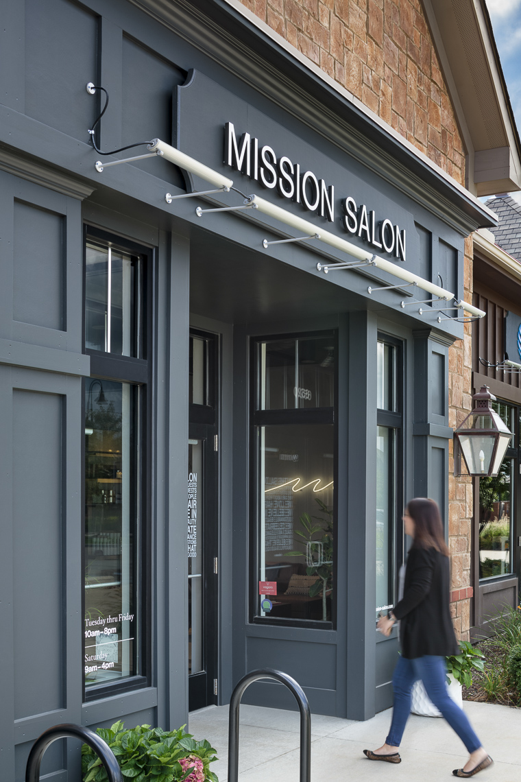 Mission Salon by TimLai Architects photographed by Lauren K Davis based in Columbus, Ohio