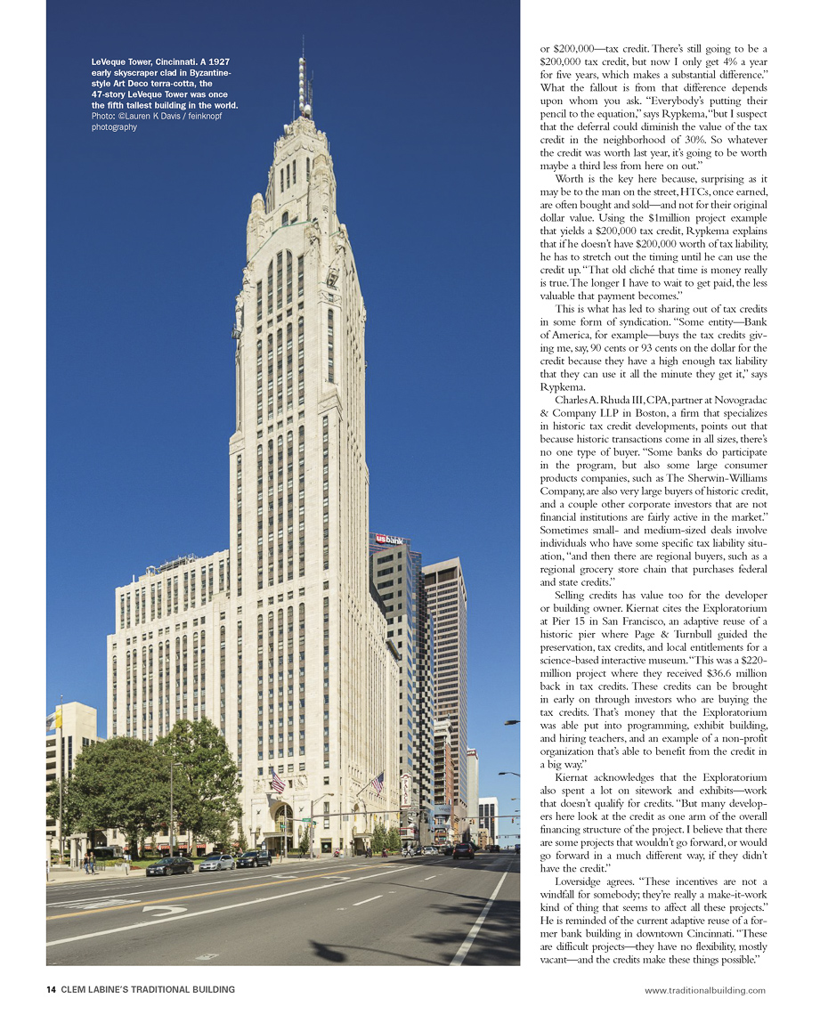 Traditonal Building Magazine Featuring  LeVeque Tower photographed by Lauren K Davis based in Columbus, Ohio